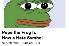 Cartoon Frog Now Officially a Hate Symbol