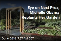 Eye on Next Prez, Michelle Obama Replants Her Garden