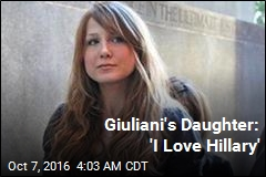 Giuliani's Daughter Is Supporting Clinton