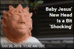 New Baby Jesus Statue's Head Not Getting Rave Reviews