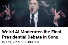 Weird Al Moderates the Final Presidential Debate in Song