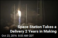 Space Station Takes a Delivery 2 Years in Making