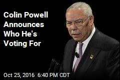 Colin Powell Announces Who He's Voting For