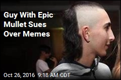 Guy With Epic Mullet Sues Over Memes