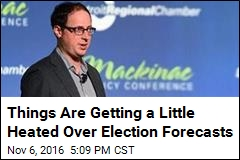 Things Are Getting a Little Heated Over Election Forecasts