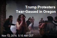 Trump Protesters Tear-Gassed in Ore.