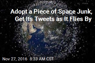 Adopt a Piece of Space Junk, Get Its Tweets as It Flies By