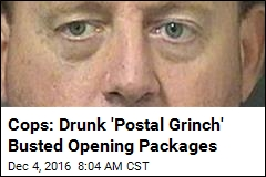 Cops: Drunk 'Postal Grinch' Busted Opening Packages
