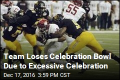 Team Loses Celebration Bowl Due to Excessive Celebration