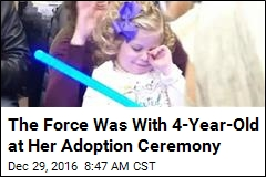 4-Year-Old Girl Has Star Wars - Themed Adoption Ceremony