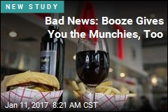 Bad News: Booze Gives You the Munchies, Too