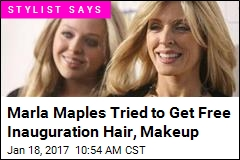 Marla Maples Tried to Get Free Inauguration Hair, Makeup