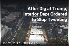 After Dig at Trump, Interior Dept Ordered to Stop Tweeting