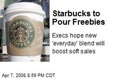 Starbucks to Pour Freebies