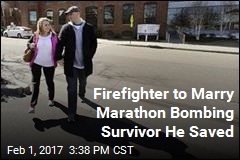 Boston Marathon Bombing Survivor Engaged to Firefighter Who Helped Her