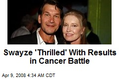 Swayze 'Thrilled' With Results in Cancer Battle
