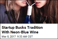 Startup Bucks Tradition With Neon-Blue Wine