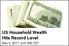 US Household Net Worth Hits Record Level