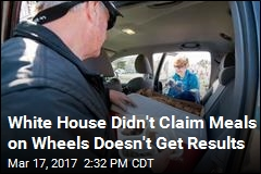 White House Didn't Claim Meals on Wheels Doesn't Get Results