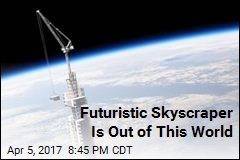 Skyscraper of the Future Hangs From Orbiting Asteroid