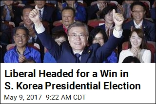 After Decade, Next S. Korean President Looks to Be a Liberal