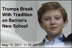 Trumps Choose New School for Barron