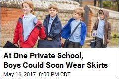 At One Private School, Boys Could Soon Wear Skirts