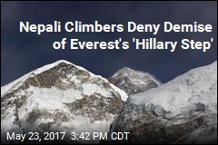 Nepali Climbers Deny Demise of Everest's 'Hillary Step'