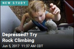 Rock Climbing May Help Beat Depression
