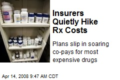 Insurers Quietly Hike Rx Costs