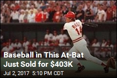 Baseball in This At-Bat Just Sold for $403K
