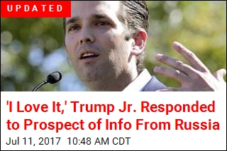 Trump Jr. Tweets Out Email Exchange Setting Up Meeting