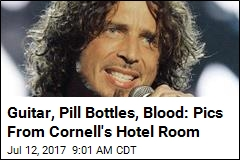 Guitar, Pill Bottles, Blood: Pics From Cornell's Hotel Room