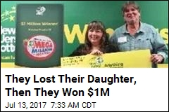 NJ Couple Who Lost Daughter Hit Jackpot for $1M