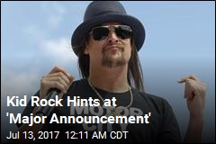 Kid Rock Might Be Planning Senate Run