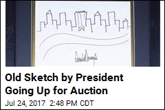 Trump Sketch of NYC Skyline Starts at $9K