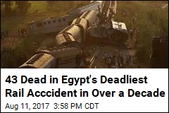 Egypt's Deadliest Rail Accident in Over a Decade Kills 43