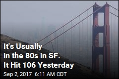 It's Usually in the 80s in SF. It Hit 106 Yesterday