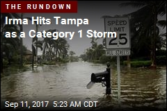 Irma Hits Tampa as a Category 1 Storm