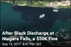 After Black Discharge at Niagara Falls, a $50K Fine