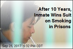 After 10 Years, Inmate Wins Suit on Smoking in Prisons