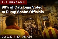 Officials: 90% Chose Independence in Catalonia Vote