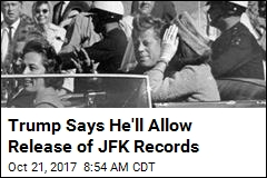 Trump Plans to Allow Release of JFK Assassination Records
