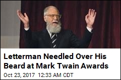 David Letterman Honored With Mark Twain Prize