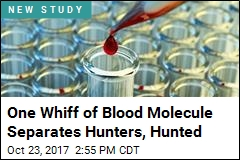 One Whiff of Blood Molecule Separates Hunters, Hunted