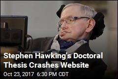 Stephen Hawking's Doctoral Thesis Crashes Website