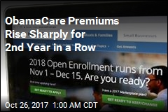 ObamaCare Premiums Rise Sharply for 2nd Year in a Row