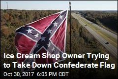 Ice Cream Shop Owner Trying to Take Down Confederate Flag