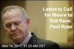 Paul Ryan Calls for Moore to Step Aside