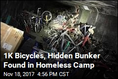 Trap Door, Thousand Bicycles Found in Homeless Camp